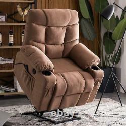Power Massage Lift Recliner Chair Cup Holder USB Charging Oversize Swivel Sofa