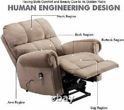 Power Massage Lift Recliner Chair With Heat For Elderly Lounge Overstuffed Sofa