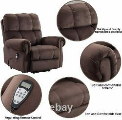 Power Massage Lift Recliner Chair With Heat For Elderly Overstuffed Lounge Sofa