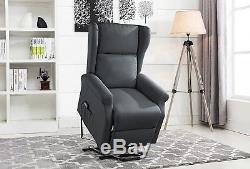 Power Recliner Chair, Lift Chairs, Linen Living Room Reclining Armchair, Grey