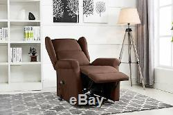 Power Recliner Chair, Lift Chairs, Living Room Reclining Armchair Dark Brown