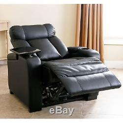 Power Recliner Leather Furniture Home Lift Theater Chair Assist Renu Lazy Boy