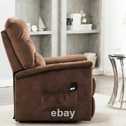 Power Recliner Lift Chair Armchair Sofa Padded Seat Living Room Electric Brown