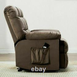 Power Recliner Lift Chair Fabric Single Couch Lounge Sofa Seat Elderly with RC