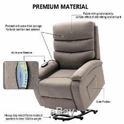 Power Recliner Lift Chair With Massage Heat Vibration Elderly Reclining Sofa