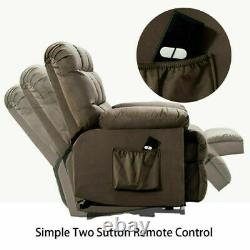 Power Recliner Lift Chair for Elderly Fabric Sofa with Padded Seat Living Room