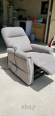 Power lift chair with full lay flat capabilities, power headrest