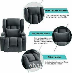 Recliner Chair Power Lift Recliner Overstuffed Fabric Massage Chair Living Room