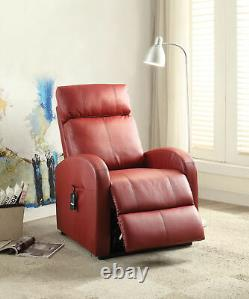 Ricardo Recliner withPower Lift Red PU