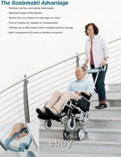 Scalamobil S30 portable stair-climbing wheelchair power lift, stairclimber chair
