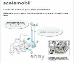 Scalamobil S35 stair-climbing wheelchair power lift, portable stairclimber chair
