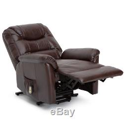 Seatcraft Valentino Power Lift Reclinable Leather Gel Chair Extended Recline