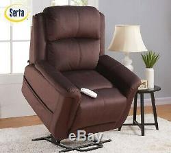 Serta Hannah Power Recliner Lift Chair, LAYS FLAT, 375 Wt. Cap, LED Hand Control