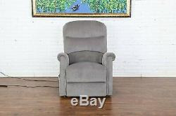 Single Reclining Chair Plush Power Lift Recliner Living Room Chair (Grey)