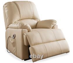 Super Sale Free Ship Ixora Beige Power Lift & Massage Recliner