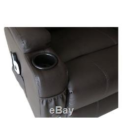 U-MAX PU Leather Power Lift Chairs Recliner for Elderly With Heated Vibration