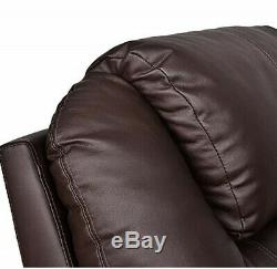 U-MAX Recliner Power Lift Chair Wall Hugger PU Leather withRemote Control (Brown)