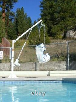Used Aqua Creek The Power EZ Pool Lift Chair Lift with Push Button Remote Control