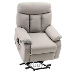 Vibrating PU Leather Rocker Recliner Power Lift Massage Chair USB Ports withRemote