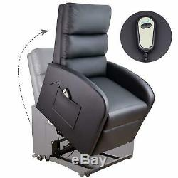 Walnew Power Lift Massage Recliner PU Leather Huge Thick Padded Sofa Seat with R