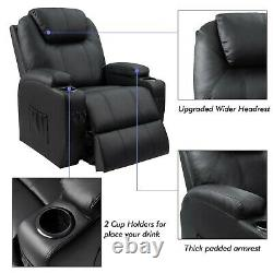 Walnew Power Lift Recliner with Massage and Heat, Gray Faux Leather