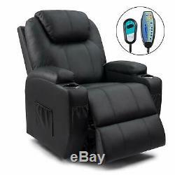 Walnew Recliner Chair Power Lift Massage Heating Function Recliner Single Living