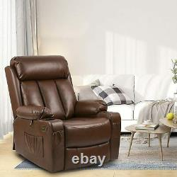 YITAHOME Power Lift Massage Recliner Chair PU Leather Single Sofa with Footrest