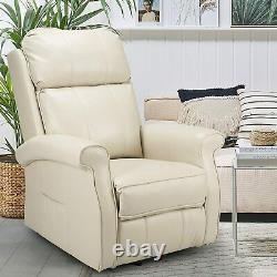 YODOLLA Elderly Power Lift Recliner Chair Heated Vibration Leather Massage Sofa